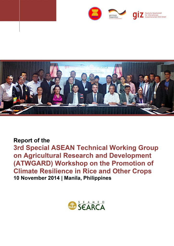Report: 3rd Special ATWGARD Meeting on the Promotion of Climate Resilience in Rice & Other Crops
