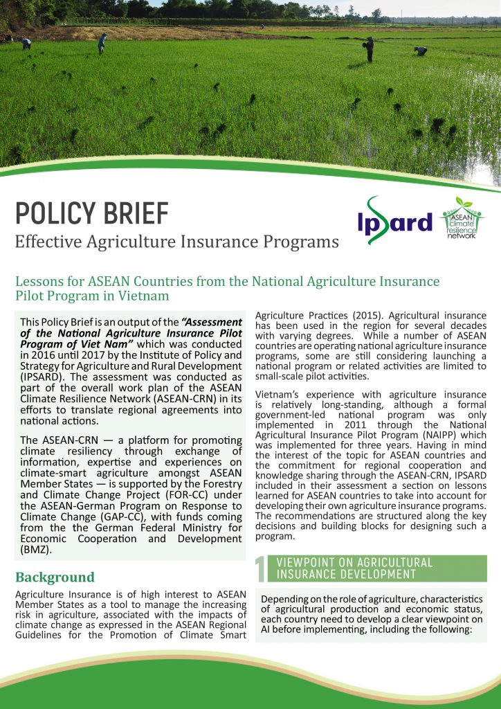 Policy brief IPSARD