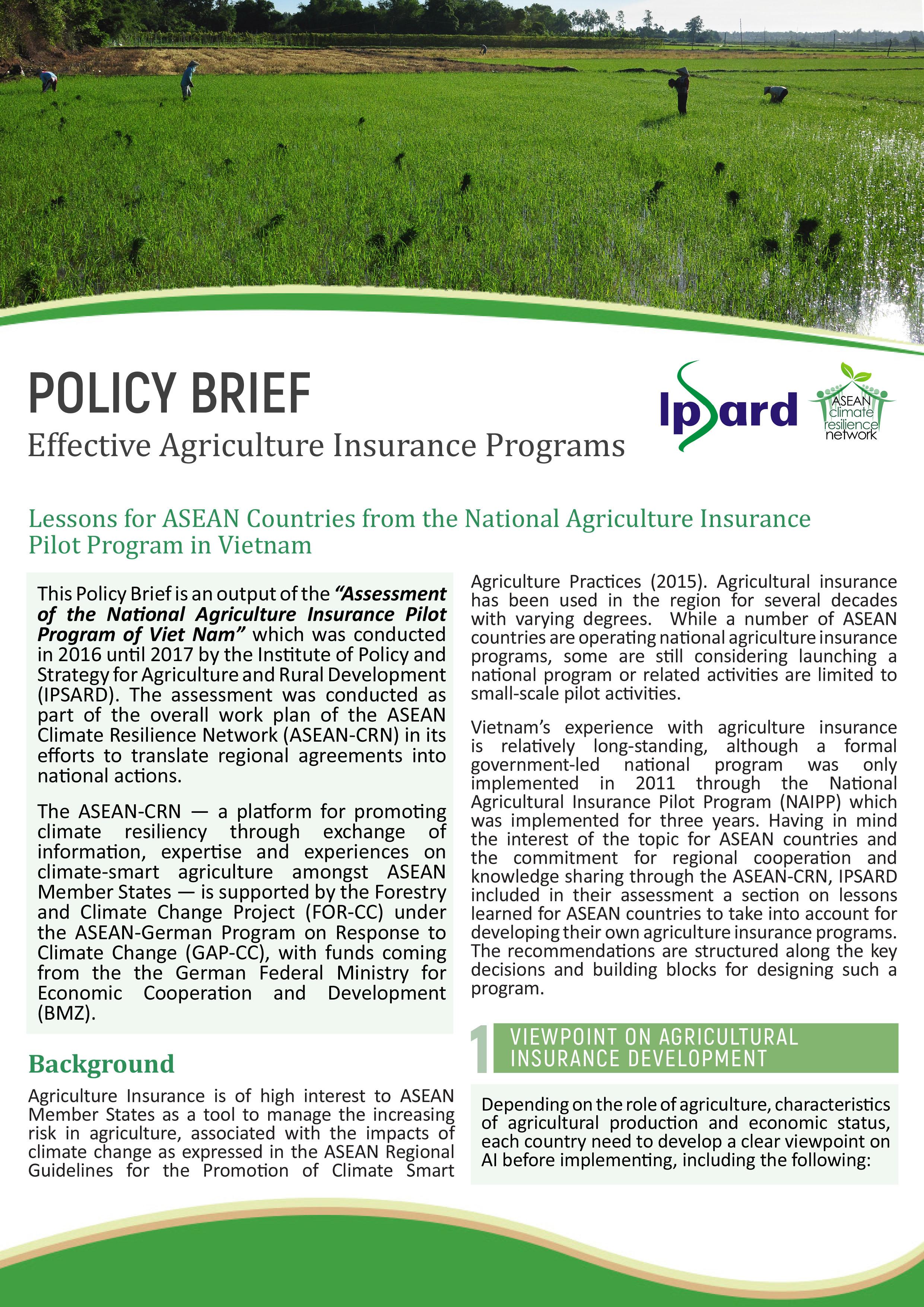 Policy brief IPSARD
