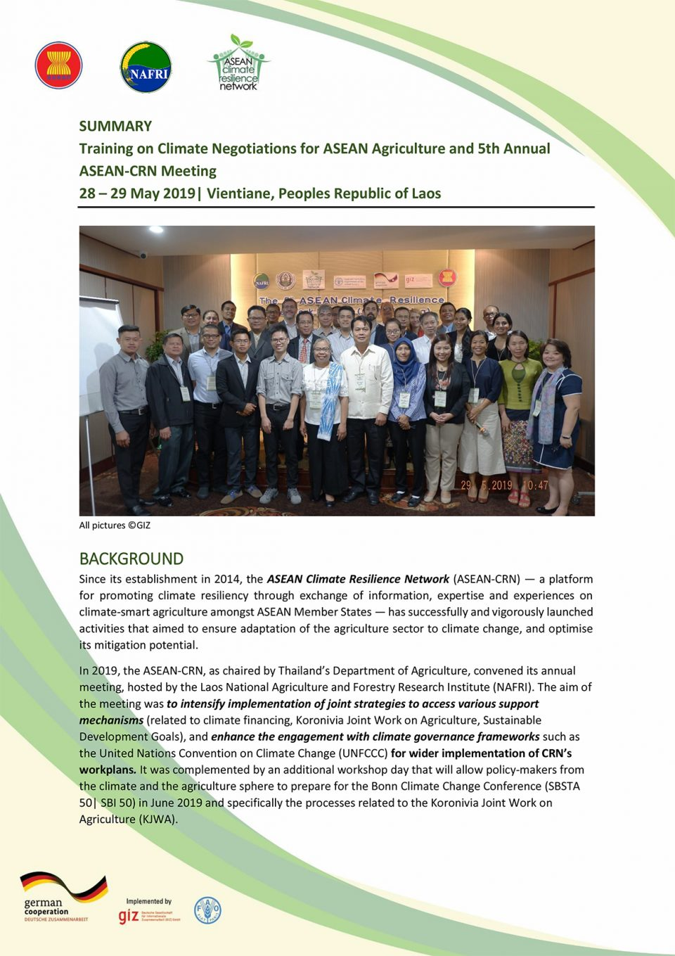 ASEAN training climate negotiation